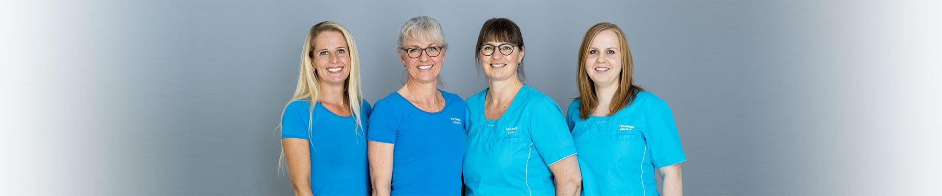 Tandlægerne Ditte-Lisanne-Lone og Martine
